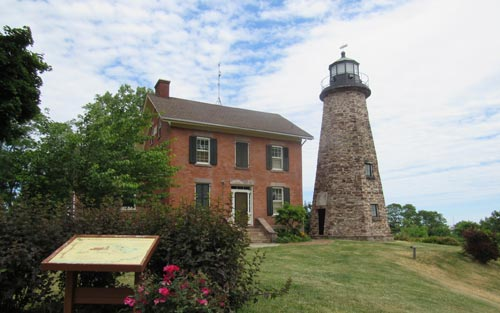 Charlotte Genesee Lighthouse: Charlotte Genesee Lighthouse Peace Garden